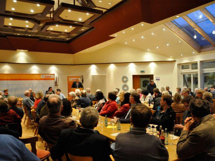 Gut besucht war die Versammlung des CDU-Kreisverbandes Lingen in der Gaststätte Klaas-Schaper.
