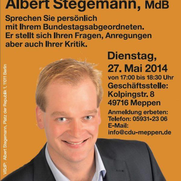 Albert Stegemann lädt zur Sprechstunde in Meppen