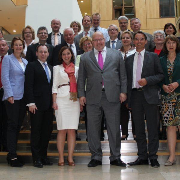 Gruppenfoto mit Bundesminister Altmaier