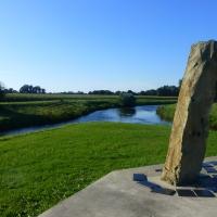 Zusammenfluss Dinkel und Vechte mit Monument nördlich von Neuenhaus (Quelle: Gerrit Dams/ privat)