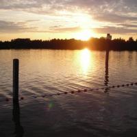Abendstimmung am Quendorfer See (Quelle: Gesine Wortelen/ privat)