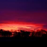 Sonnenuntergang in Uelsen (Quelle: Michael Zwafink/ privat)