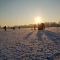 Winterstimmung auf dem Vechtesee (Quelle: Helmut Heils/ privat)