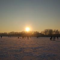 Winterstimmung auf dem Vechtesee (Quelle: Heinz-Gerd Hoesmann/ privat)