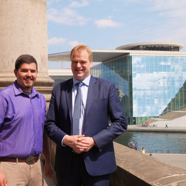 Martyn Novacek und Albert Stegemann im Deutschen Bundestag