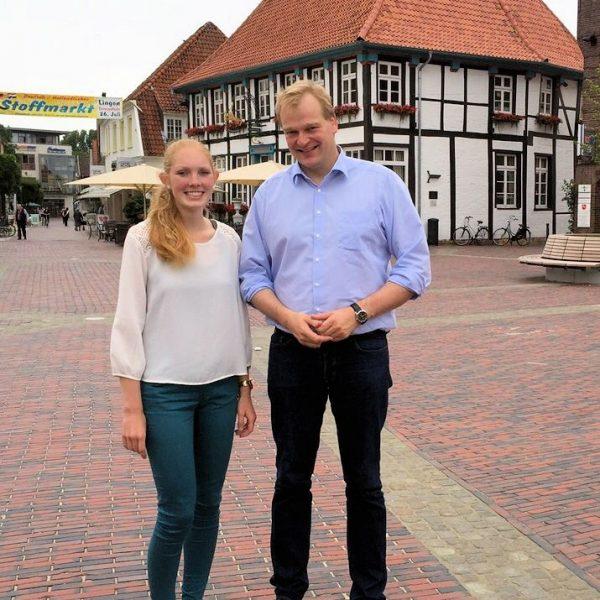 Christina Hummeldorf und Albert Stegemann in Lingen