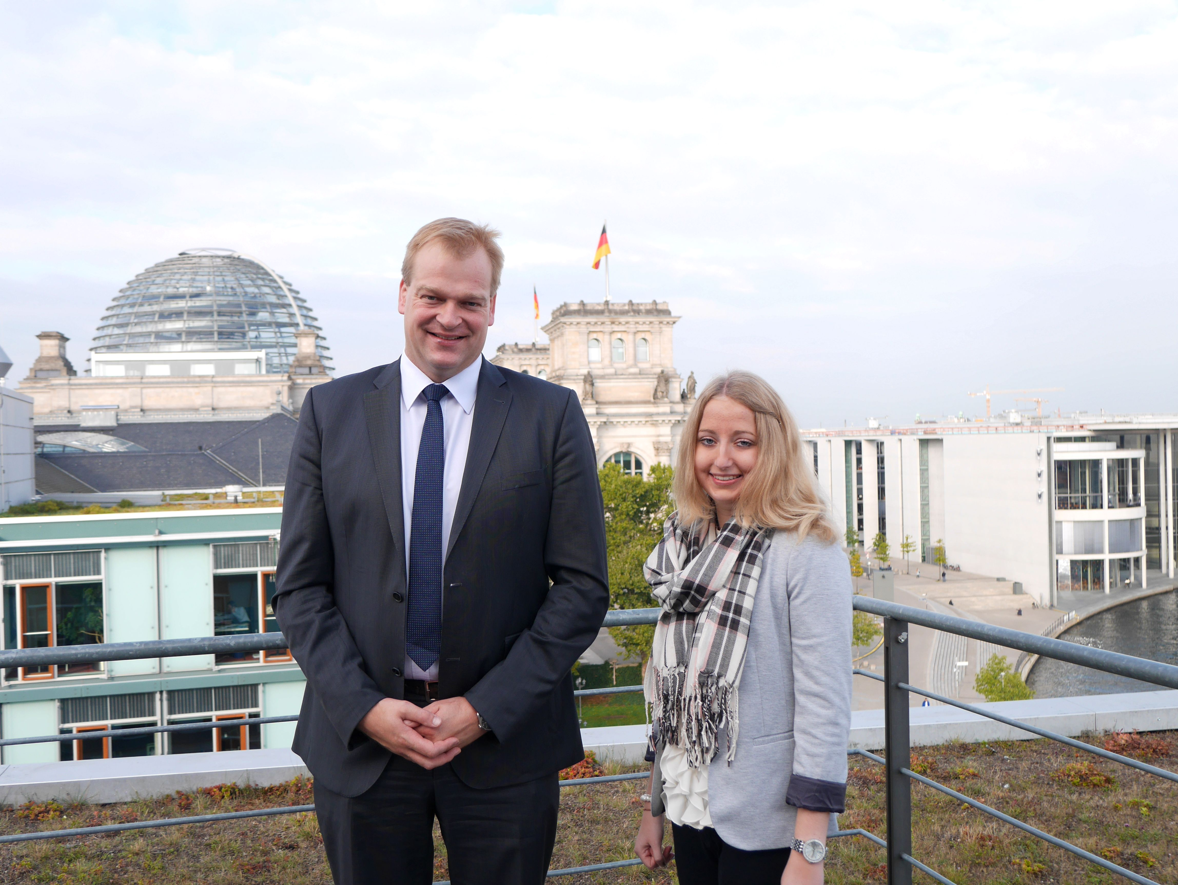 Albert Stegemann und Wiebke Lonnemann im Deutschen Bundestag