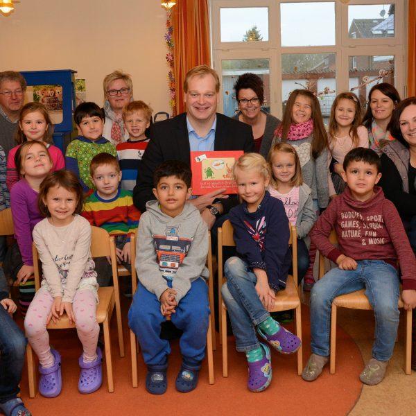 Albert Stegemann im Kindergarten St. Elisabeth