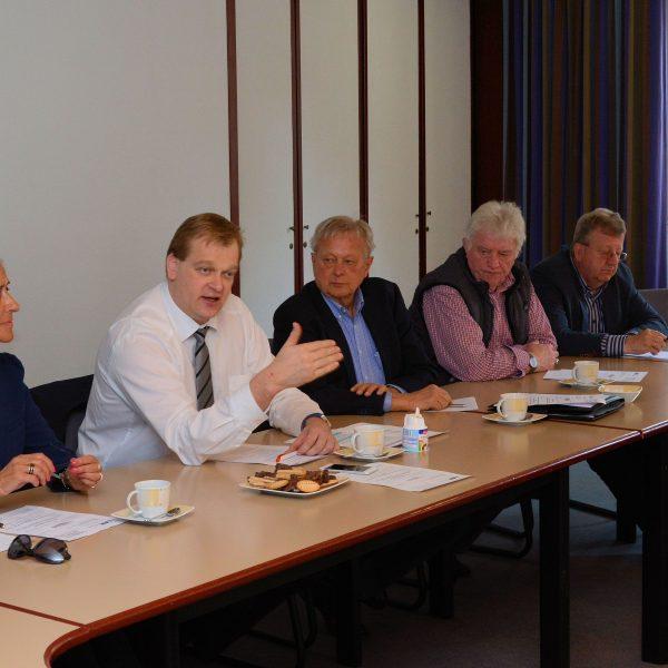 Gundula Zieschang, Vorsitzende Evangelischer Arbeitskreis der CDU im Kreisverband Lingen; Albert Stegemann, MdB; Werner Thele, stellvertretender Vorsitzender Senioren Union; Johannes Ripperda;